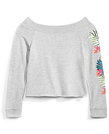 Nowadays Graphic-Print Sweatshirt, Big Girls & Juniors