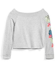Nowadays Graphic-Print Sweatshirt, Big Girls & Juniors