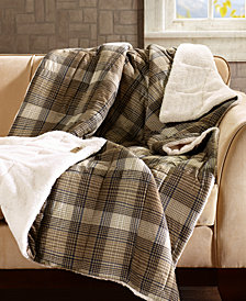 "Woolrich Lumberjack Reversible 50"" x 70"" Softspun Down-Alternative Throw"