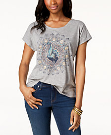 Style & Co Embellished-Graphic T-Shirt, Created for Macy's