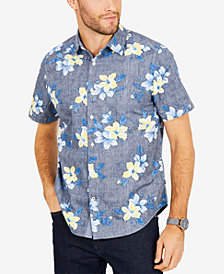 Nautica Men's Floral Print Classic Fit Shirt
