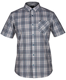 Hurley Men's Landfall Plaid Pocket Shirt