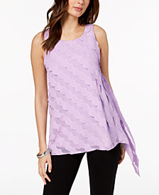 Alfani Scalloped Asymmetrical Tank Top, Created for Macy's