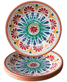 TarHong Rio Medallion Salad Plate, Set of 4
