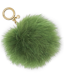 MICHAEL Michael Kors Large Round Feather Pom Pom Key Charm