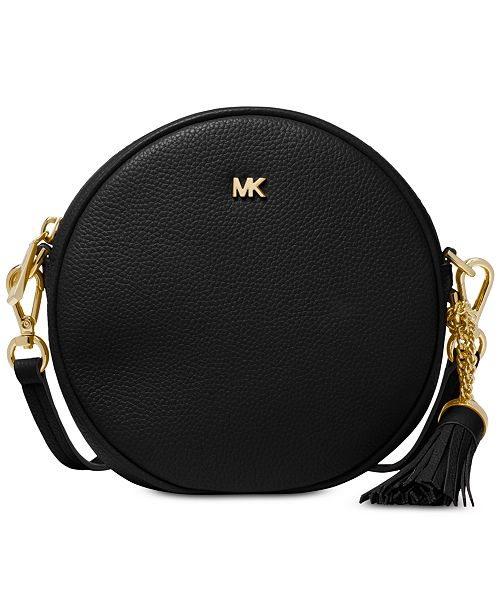 56275a0bb33dbc Michael Kors Pebble Leather Circle Canteen Crossbody & Reviews ...