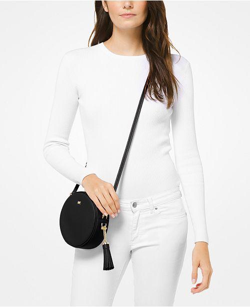 902e9077035 Michael Kors Pebble Leather Circle Canteen Crossbody - Handbags ...