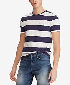 Polo Ralph Lauren Men's Classic Fit Striped Pocket T-Shirt