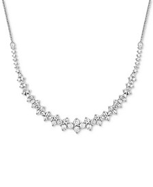 "Diamond Collar Necklace (1-1/2 ct. t.w.) in 14k White Gold, 16"" + 2"" extender, Created for Macy's"
