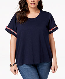 Style & Co Plus Size Step-Hem Top, Created for Macy's