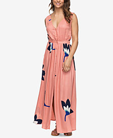 Roxy Juniors' Floral-Print Maxi Dress