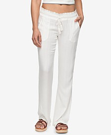 Juniors' Oceanside Textured Soft Pants