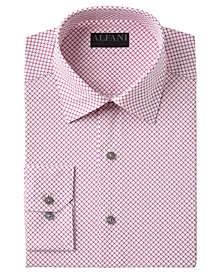 AlfaTech by Alfani Men's Slim-Fit Performance Stretch Easy-Care Puzzle Print Dress Shirt, Created for Macy's