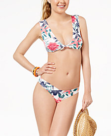 Roxy Urban Waves Printed Tie Bikini Top & Cheeky Briefs
