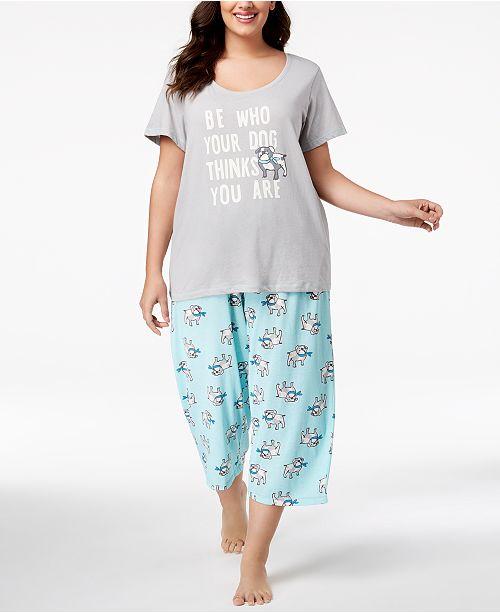 fabf70f0ce3 Hue Plus Size Printed Capri Pajama Set   Reviews - Bras