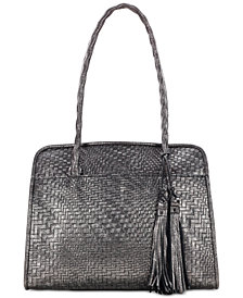 Patricia Nash Metallic Woven Paris Satchel