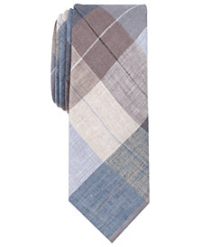 Original Penguin Men's Leach Plaid Skinny Linen Tie