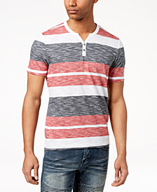 I.N.C. Striped Henley T-Shirt, Created for Macy's