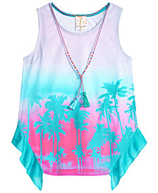 Self Esteem Big Girls 2-Pc. Tank Top & Necklace Set