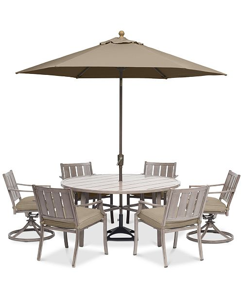 Remarkable Furniture Wayland Outdoor Aluminum 7 Pc Dining Set 60 Ncnpc Chair Design For Home Ncnpcorg