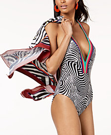 Trina Turk x I.N.C. Zebra Print Swimsuit, Created for Macy's