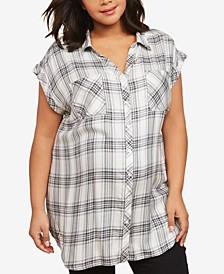 Plus Size Button-Front Shirt