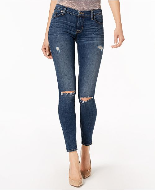 eac04ad397e Hudson Jeans Nico Ripped Skinny Jeans   Reviews - Jeans - Juniors ...