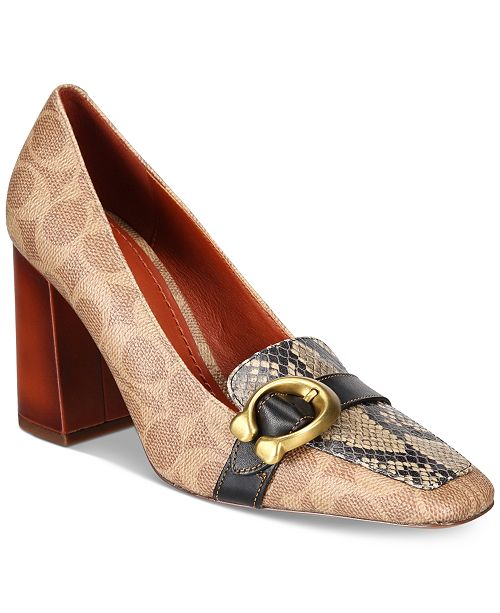 COACH Jade Signature Loafers - Pumps - Shoes - Macy's 5927a1d22df1