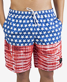 "Neff Men's Flag & Tie-Dye 19"" Board Shorts"