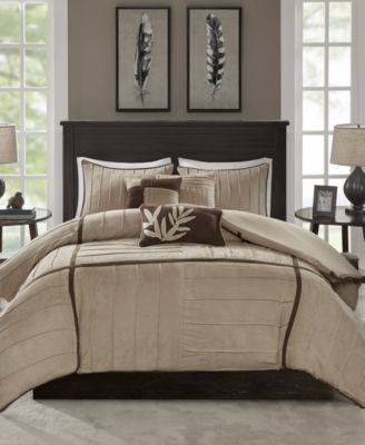 Dune 6-Pc. Faux-Suede Full/Queen Duvet Cover Set