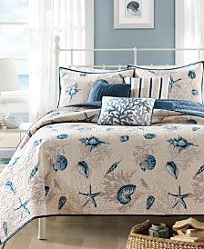 Madison Park Bayside 6-Pc. Quilted Full/Queen Coverlet Set
