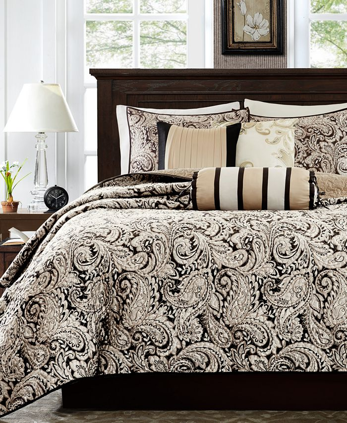 Madison Park - Aubrey 6-Pc. Quilted Full/Queen Coverlet Set
