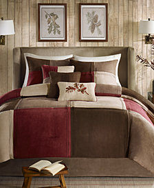Madison Park Jackson Blocks Faux Suede 7-Pc. Queen Comforter Set
