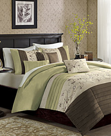 Madison Park Serene 6-Pc. Full/Queen Duvet Cover Set