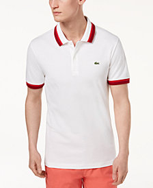 Lacoste Men's Slim-Fit Fancy Pima Cotton Stretch Polo