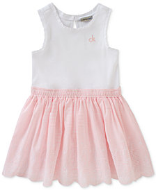 Calvin Klein Baby Girls Pull-On Cotton Ballerina Dress