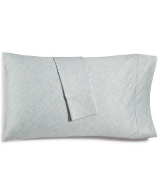 CLOSEOUT! Cotton 525-Thread Count Crosshatch Pair of Standard Pillowcases, Created for Macy's