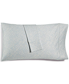 CLOSEOUT! Hotel Collection Cotton 525-Thread Count Crosshatch Pair of Standard Pillowcases, Created for Macy's