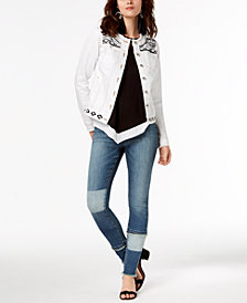 I.N.C. Embellished Jacket, Halter Top & Skinny Jeans, Created for Macy's