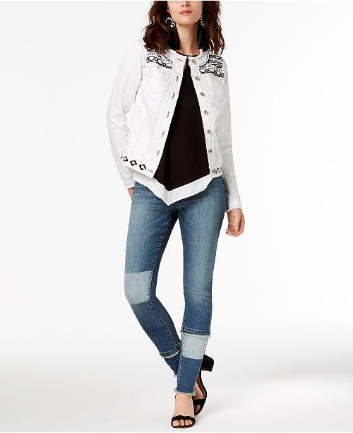 INC International Concepts I.N.C. Embellished Jacket, Halter Top & Skinny Jeans, Created for Macy's