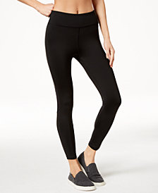 Calvin Klein Performance High-Rise Mesh-Inset Ankle Leggings