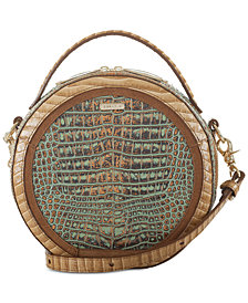 Brahmin Lane Turquoise Small Circle Crossbody