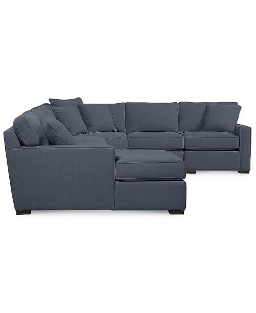 Furniture Radley 6 Piece Fabric Chaise Sectional Sofa
