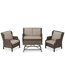 Franklin 4-Pc. Outdoor Chat Set, Quick Ship