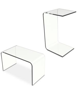 Acrylic Modern C-Style Side Table