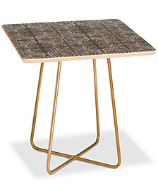 Deny Designs Dash and Ash Stars Above Square Side Table