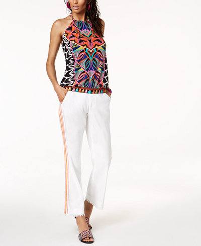 Trina Turk x I.N.C. Halter Top & Embroidered Pants, Created for Macy's