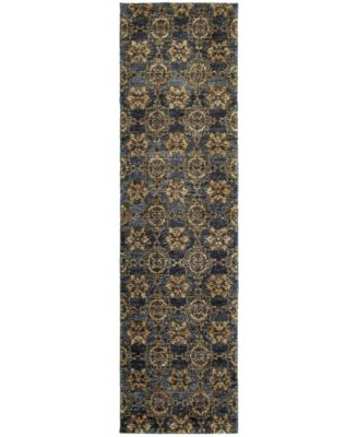 "Journey  Vella Blue 2'3"" x 8' Runner Rug"