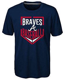 Outerstuff Atlanta Braves Run Scored Poly T-Shirt, Big Boys (8-20)