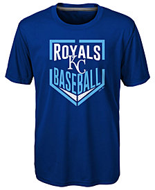 Outerstuff Kansas City Royals Run Scored Poly T-Shirt, Big Boys (8-20)
